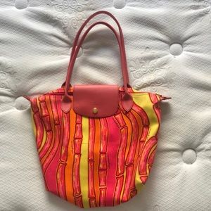 Longchamp bag with bright and fun colors